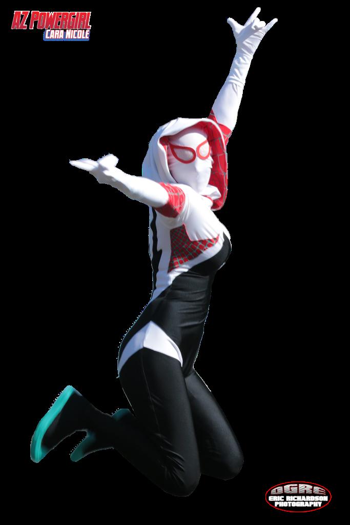 az powergirl spider gwen swinging